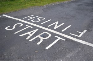 """The Start and Finish Line of the """"Inishowen 100"""" scenic Drive"""