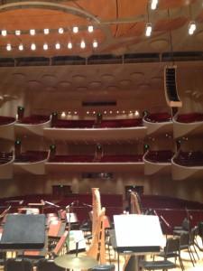 Joseph Meyerhoff Symphony Hall empty before a rehearsal