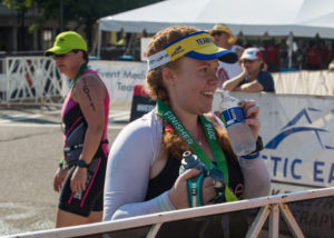 Happy finisher!  All photos courtesy of my dad.